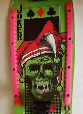 "Vintage C.1980 21"" NOS Skateboard Skate Board Multi Color Skull Joker Eagle"