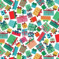 FROSTY PRESENTS GIFTS CHRISTMAS FABRIC