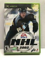 EA Sports NHL 2002 (Microsoft Xbox, 2001) Complete w/ Manual - Tested Working