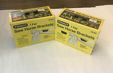 NOS NEW Stanley 83-362 Two Pair Saw Horse Brackets Vintage Carpenter Painter