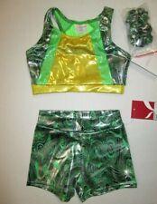 New Crop Top Shorts Set Size Sc 4 Child Lot Dance Gymnastics Leotard Capezio Xs