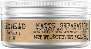 TIGI Bed Head For Men Matte Separation Workable Wax 85g Styling Hair Care Mens