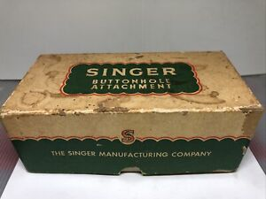Vintage Singer buttonhole attachment 86662 in orig box with instructions,Sewing