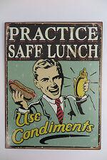 panneau métallique 33x25 Pratice Safe déjeuner use condiments SNACK CUISINE