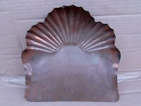 "Edwardian Copper Fantail 9"" Crumb Tray - Art Nouveau Pattern -Good"