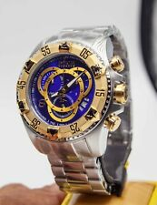 Invicta 1878 Reserve Excursion Touring Chronograph SS Blue Dial Men's Watch New