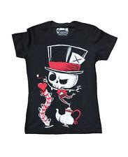 Akumu Ink - Damen Alice Tattoo T-Shirt - Tea Party (Schwarz) (S-L)