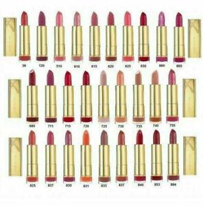 MAX FACTOR Colour Elixir Intense 24Hr Lipstick with Vitamin-E NEW *CHOOSE SHADE*