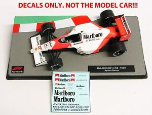 DECALS Ayrton Senna 1990 McLaren MP 4/5B Marlboro 1:43 Formula 1 COLLECTION