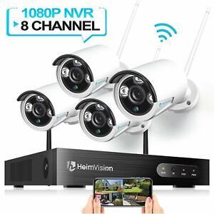 4 Camara De Seguridad Sistema Inalambrica Impermeable Inteligente Wifi Hd Nvr