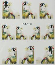 Accessoire ongles : nail art - Stickers décalcomanie - Motifs geisha