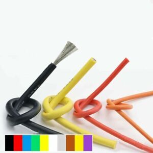 26AWG UL 0.08mm Flexible Silicone Cable Wire Stranded Copper Line Various Colors