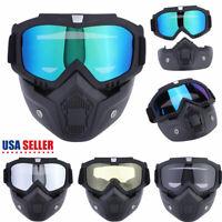 Winter Snow Sports Ski Snowboard Face Mask Goggles Snowmobile Skate Glasses