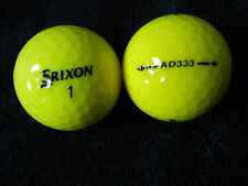 "20 SRIXON ""AD333 YELLOW""  Golf Balls  ""A MINUS / B PLUS"" Grades."