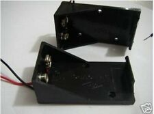 2pcs NEW 9 Volt 9V POWER SUPPLY BATTERY HOLDER CASE BASE  w/ PRE-Wired lead BH