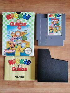 Nintendo NES Jeu Kickle Cubicle + Notice + Boite