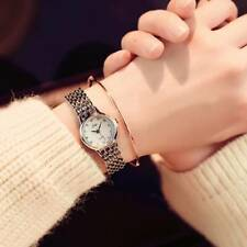 Luxury Fashion Ladies Women's Watches Stainless Steel Quartz Analog Wrist Watch Silver