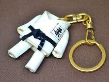 Judo Gi Uniform Handmade 3D Leather(L)Key chain ring *VANCA* Made in Japan 56901