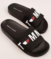 TOMMY HILFIGER Women's DAYAN-R Beach Pool Slides, Black, size UK 2.5