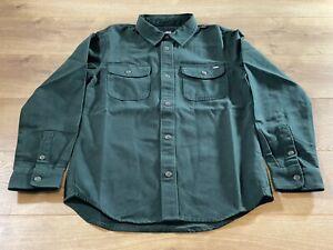 Vans Linwood Boys LS Shirt Dark Green SZ M ( VN0A5FNXPRM ) NWT!!!