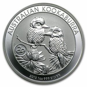 2013 1oz Silver Kookaburra Perth Mint Bullion Coin with Snake Privy