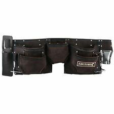 Kincrome 11-POCKETS LEATHER TOOL WAIST BELT Carpenters Nail Bag - AUST Brand
