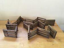 Wooden Folding Putz Vintage FEATHER TREE Miniature Christmas Fence - 10+ Feet