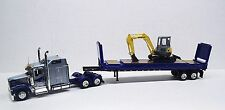 Kenworth W900l with contianer chassis Super Rack with New Holland Scooper