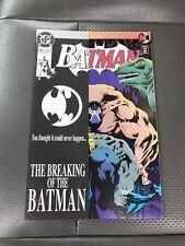 Batman #497 Bane breaks Batman's Back Unread NM/VF Key DC Moench Knightfall