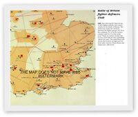 BATTLE OF BRITAIN UK RAF FIGHTER DEFENCES 1940  HISTORIC HARDBACK WAR MAP