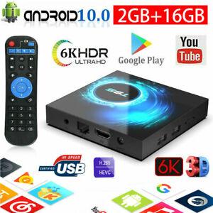 T95 Android 10.0 TV Box 2GB 16GB Quad Core HD 6K HDMI WIFI 5G  Media Player UK