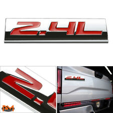 """2.4L"" Polished Metal 3D Decal Red Emblem Exterior Sticker For Honda Accord"