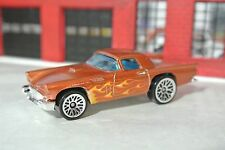 Hot Wheels '57 Ford T-Bird Thunderbird Loose  1:64 - Brown w Flames