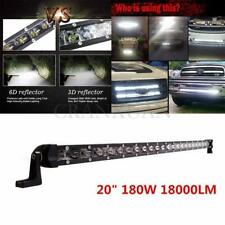 20inch Slim Single Row 6D Spot Beam 180W Off-Road LED Work Light Bar Waterproof