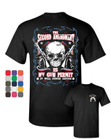 2nd Amendment Is My Gun Permit T-Shirt Gun Rights Tee Shirt