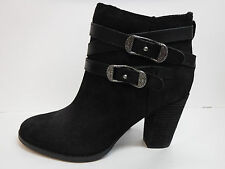 Reba Size 9 Black Leather Ankle Boots New Womens Shoes
