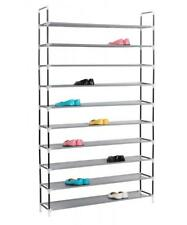 10 Tier Shoe Rack 50 Pairs Wall Bench Shelf Closet Organizer Storage Stand 010