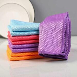 Fish Scale Microfiber Polishing Cleaning Cloth (5 Pcs)RANDOMLY AU