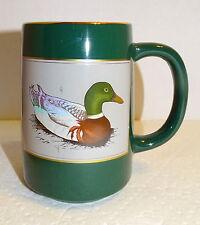 Otagiri MALLARD DUCK Coffee Mug Stein Tankard Gibson Greetings Japan...Green