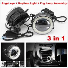 35W Car Angel eye Aperture + Daytime Light + Fog Lamp 3in1 LED Front Bumper Lens