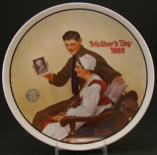 """Norman Rockwell """"My Mother"""" Mothers Day 1988 Collector Plate ~ Plate #13359C"""""""