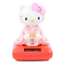 Cute Hello Kitty in a Pink Kimono Solar Toy Lucky Home Decor Gift US Seller