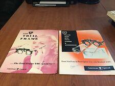 Trial Frame American Optical Vinatge 1950 Pamphlets / Advertising