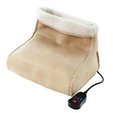 Electric Foot Warmer Massager Relaxing Fleece Suede Heated Feet Soft Comfort