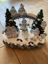 "Snow Buddies ""Winter Wonderland Crystal At Play"" Music Box Figure W/ Box"