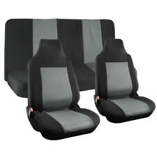 Truck Seat Cover for Ford F150 Gray Mesh Fit Bench Bucket Integrated Head Rests