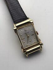 Jules Jurgensen 14K SOLID GOLD Vintage Swiss TANK Mechanical Watch