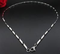 Silberkette Königskette 60cm Edelstahl Panzerkette Damen Herren Halskette 4MM S5