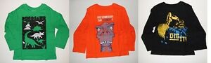 The Childrens Place Toddler Boys T-Shirts Long Sleeve dinosaur Truck  2T  NWT