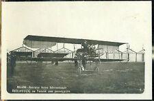 1910 - Milano - Concorso Aereo Internazionale - Bielovucic su Voisin con passegg